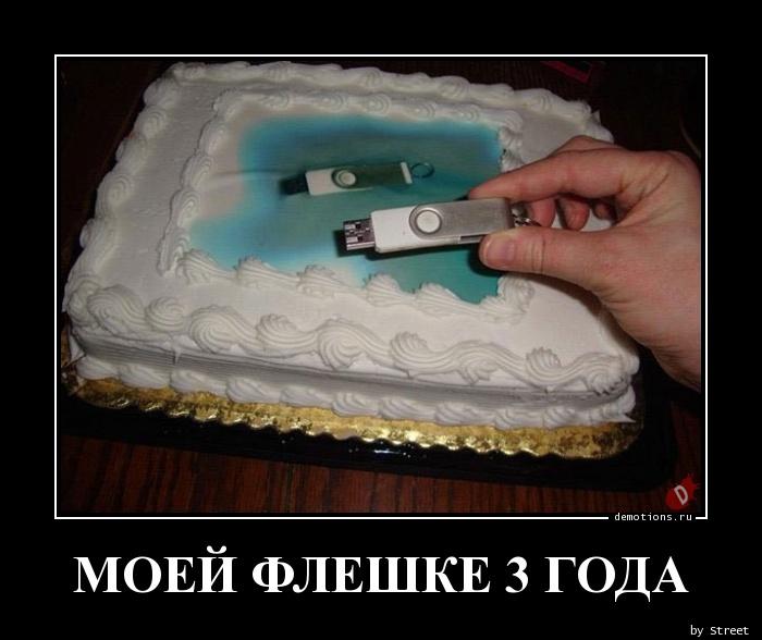 МОЕЙ ФЛЕШКЕ 3 ГОДА