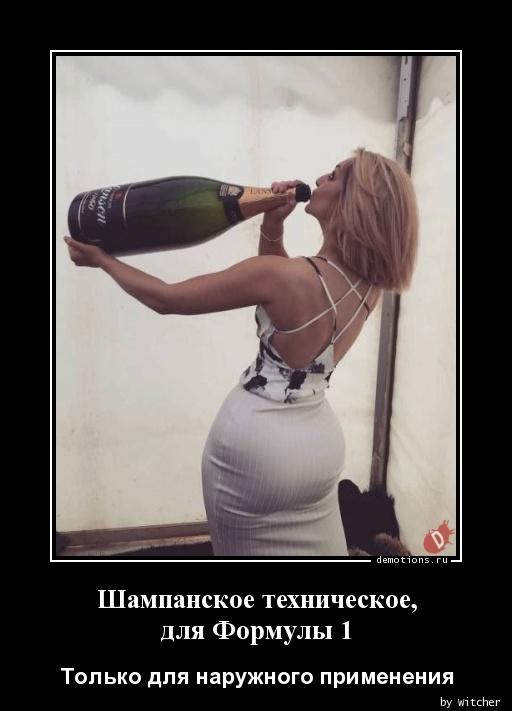 Шампанское техническое, для Формулы 1