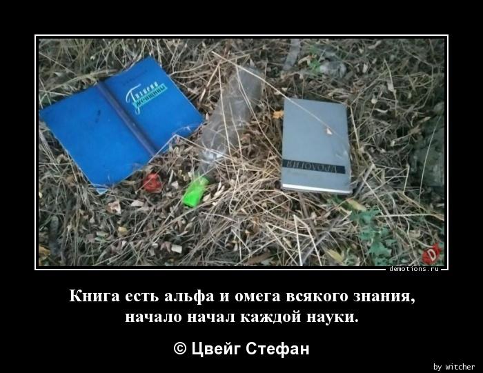 Книга есть альфа и омега всякого знания, начало начал каждой науки.