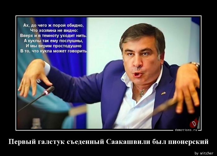 Первый галстук съеденный Саакашвили был пионерский