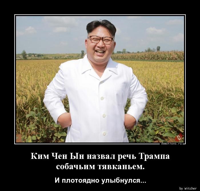 Ким Чен Ын назвал речь Трампа собачьим тявканьем.