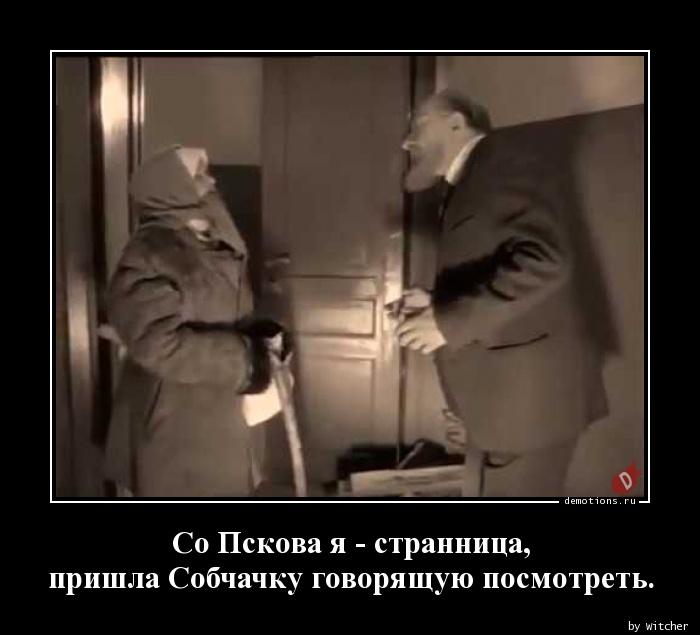 Со Пскова я - странница,  пришла Собчачку говорящую посмотреть.