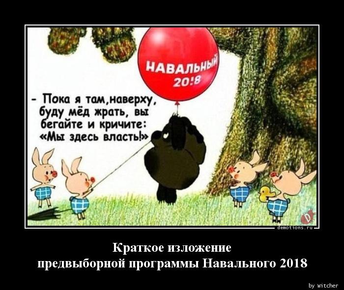 Краткое изложение  предвыборной программы Навального 2018