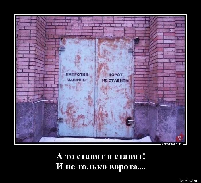А то ставят и ставят! И не только ворота....