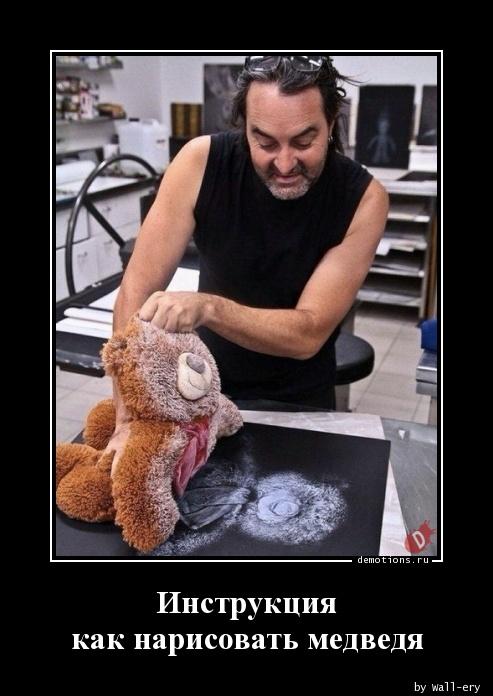 Инструкция как нарисовать медведя