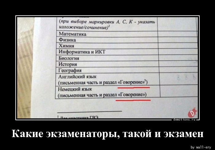 Какие экзаменаторы, такой и экзамен
