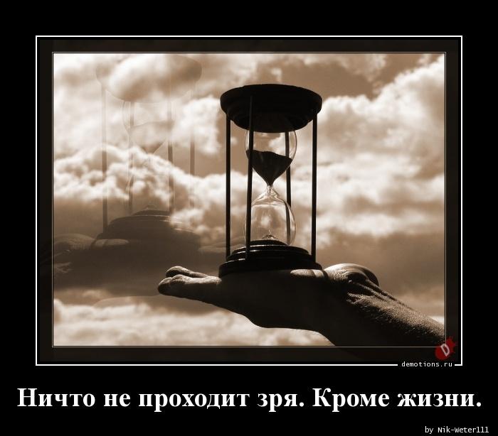 Ничто не проходит зря. Кроме жизни.