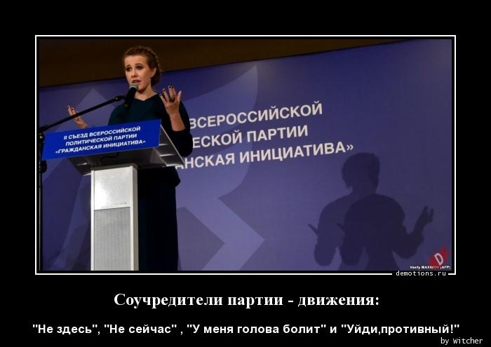 Соучредители партии - движения: