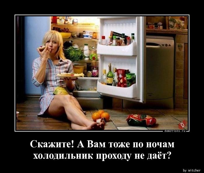 Скажите! А Вам тоже по ночам  холодильник проходу не даёт?