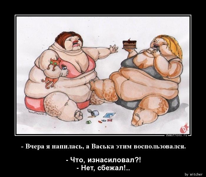 - Вчера я напилась, а Васька этим воспользовался.