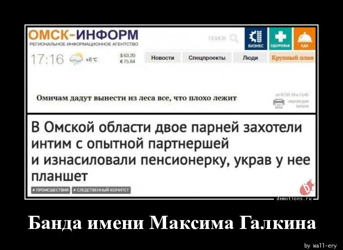 Банда имени Максима Галкина
