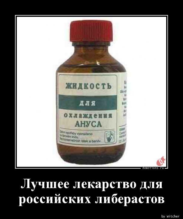 Лучшее лекарство для российских либерастов