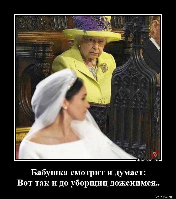 Бабушка смотрит и думает: Вот так и до уборщиц доженимся..
