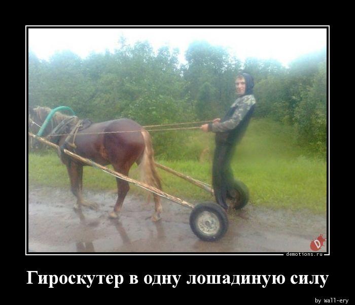 Гироскутер в одну лошадиную силу