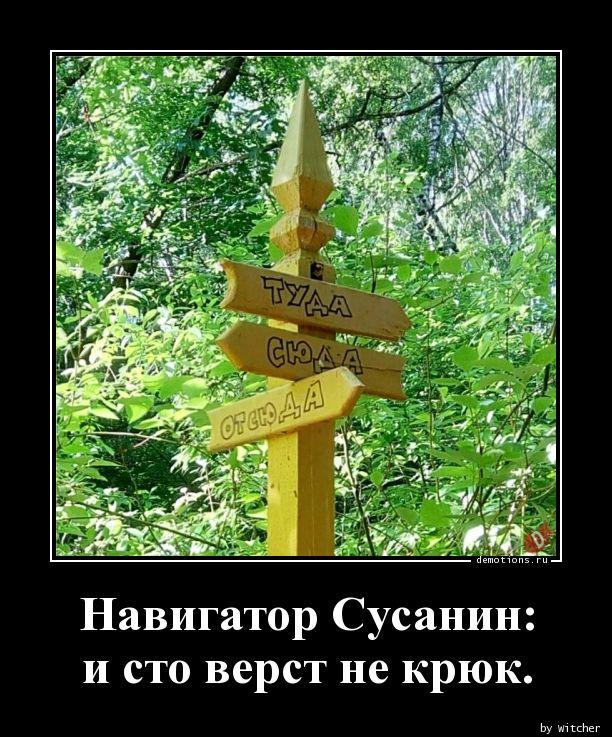 Навигатор Сусанин:  и сто верст не крюк.