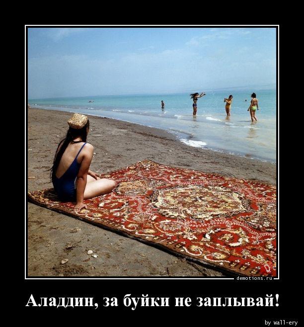 Аладдин, за буйки не заплывай!