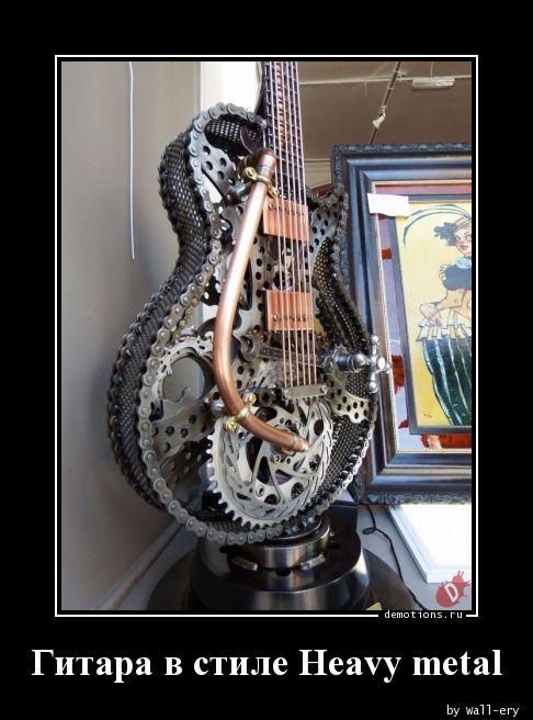 Гитара в стиле Heavy metal