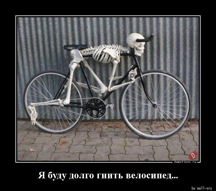 Я буду долго гнить велосипед...