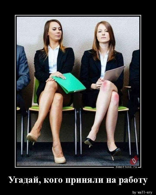 Угадай, кого приняли на работу