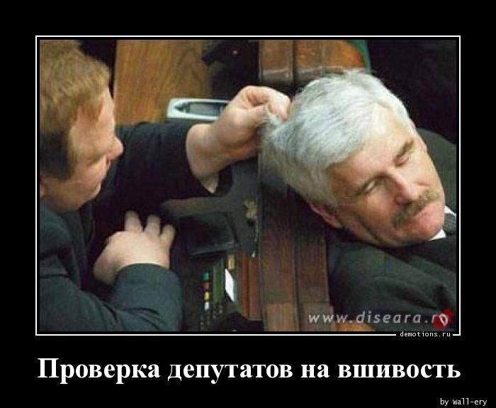 Проверка депутатов на вшивость