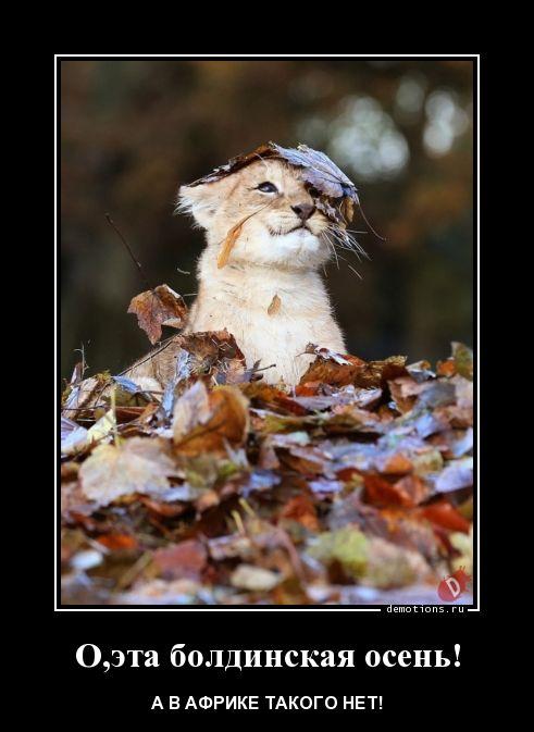 О,эта болдинская осень!