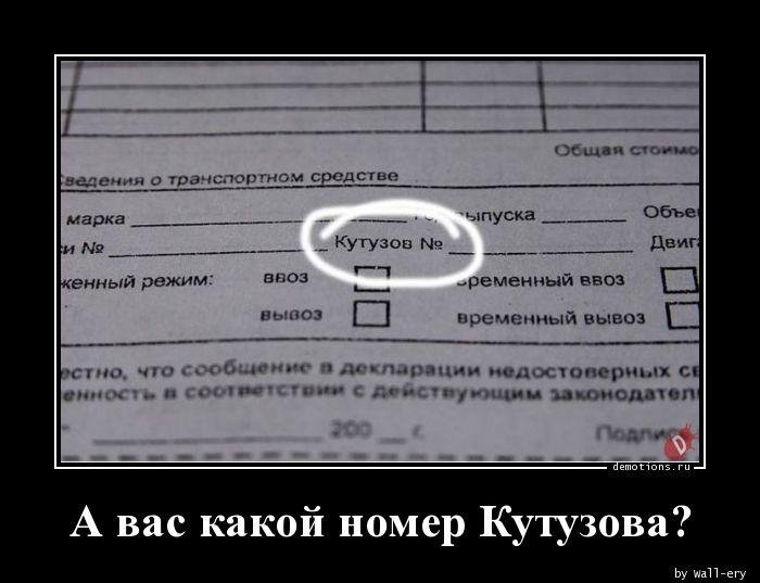 А вас какой номер Кутузова?