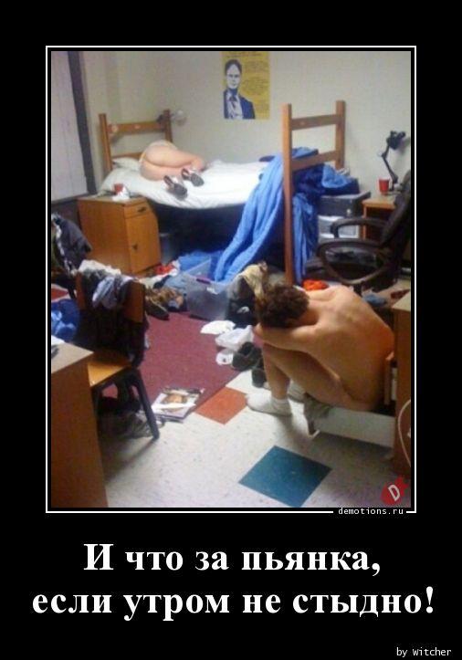 И что за пьянка, если утром не стыдно!