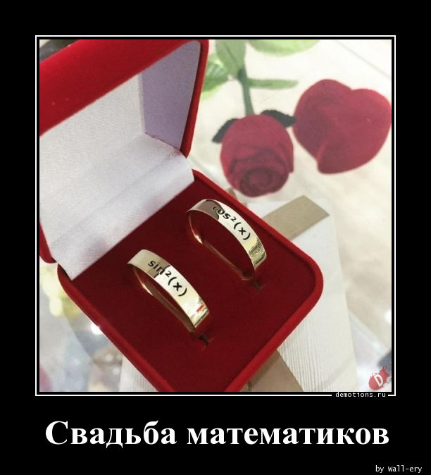Свадьба математиков