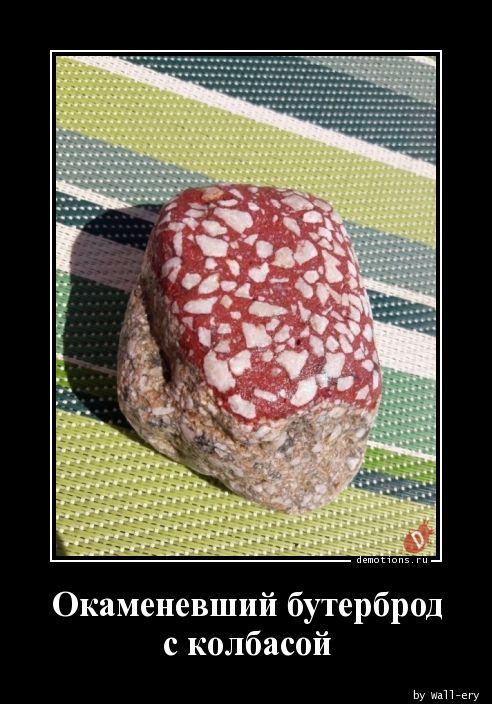 Окаменевший бутерброд с колбасой