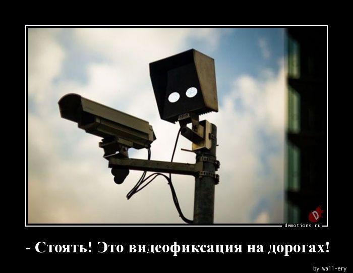 - Стоять! Это видеофиксация на дорогах!