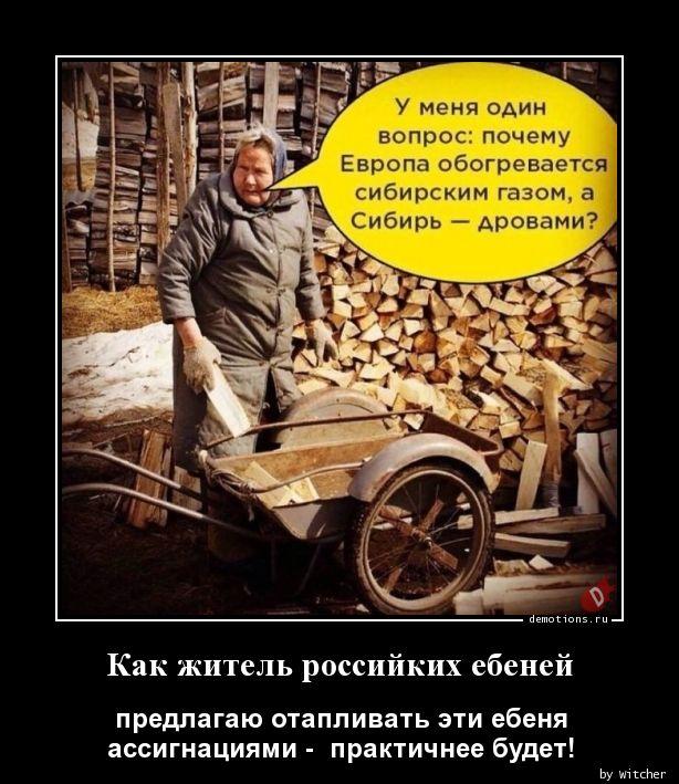 Как житель российких ебеней