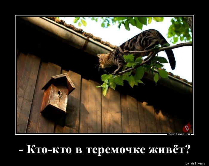 - Кто-кто в теремочке живёт?