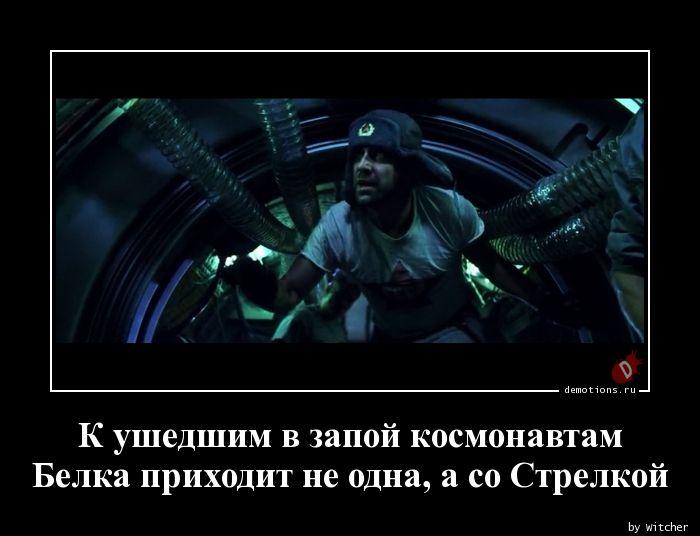 К ушедшим в запой космонавтам Белка приходит не одна, а со Стрелкой