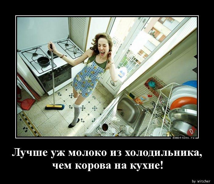 Лучше уж молоко из холодильника,  чем корова на кухне!