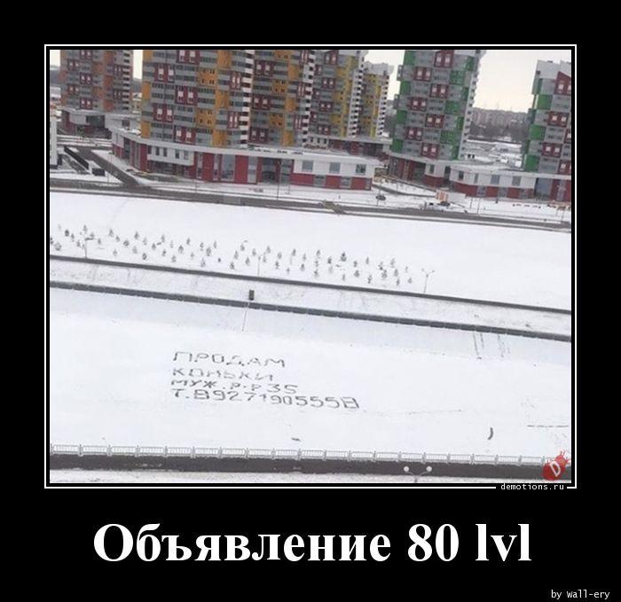 Объявление 80 lvl