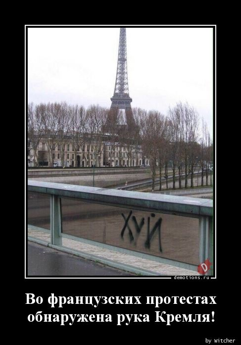 Во французских протестах обнаружена рука Кремля!