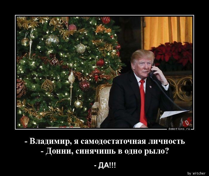 - Владимир, я самодостаточная личность- Донни, синячишь в одно рыло?