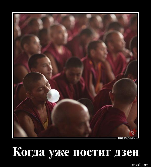 Когда уже постиг дзен