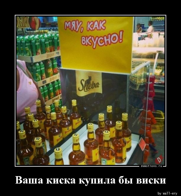 Ваша киска купила бы виски