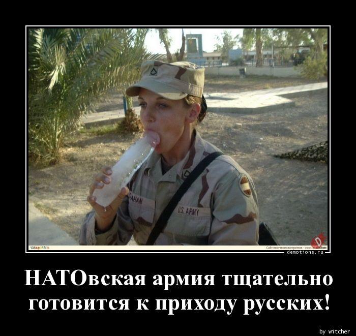 НАТОвская армия тщательно  готовится к приходу русских!