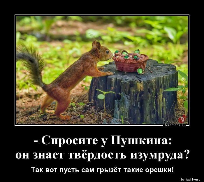 - Спросите у Пушкина: он знает твёрдость изумруда?