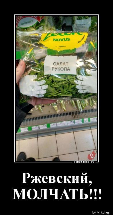 Ржевский,  МОЛЧАТЬ!!!