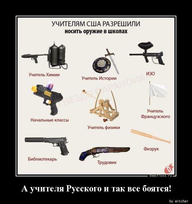 А учителя Русского и так все боятся!