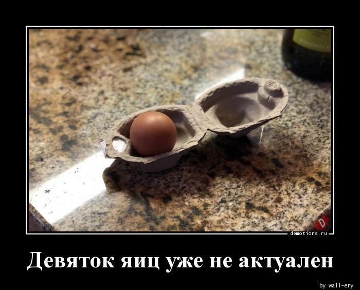 Девяток яиц уже не актуален
