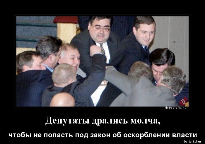 Депутаты дрались молча,