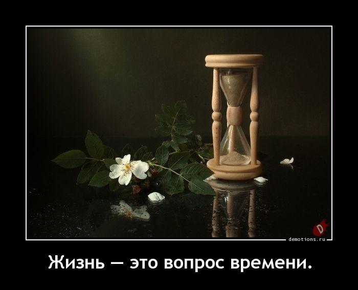 Жизнь — это вопрос времени.