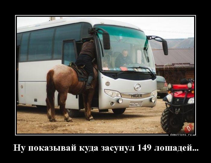 Ну показывай куда засунул 149 лошадей...