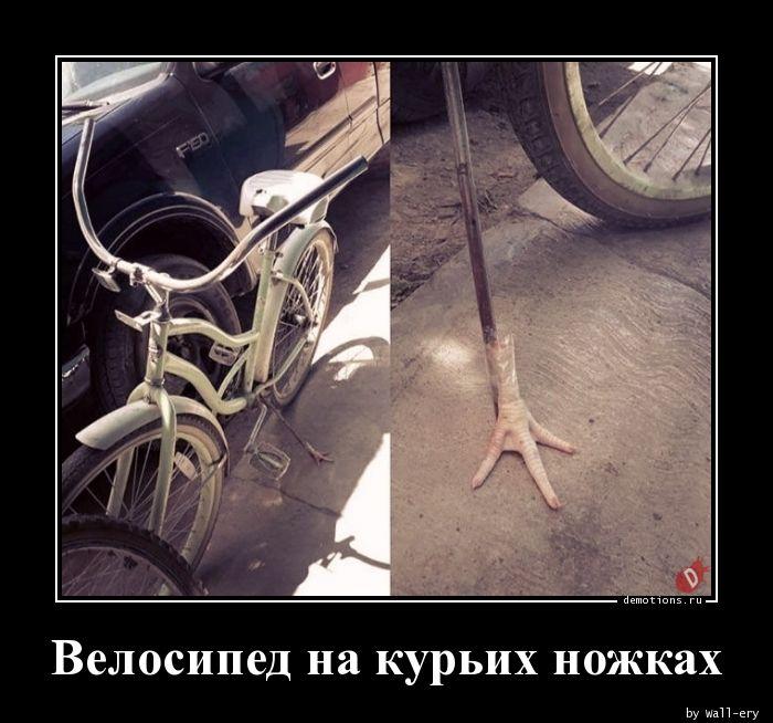 Велосипед на курьих ножках