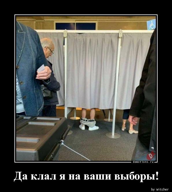 Да клал я на ваши выборы!