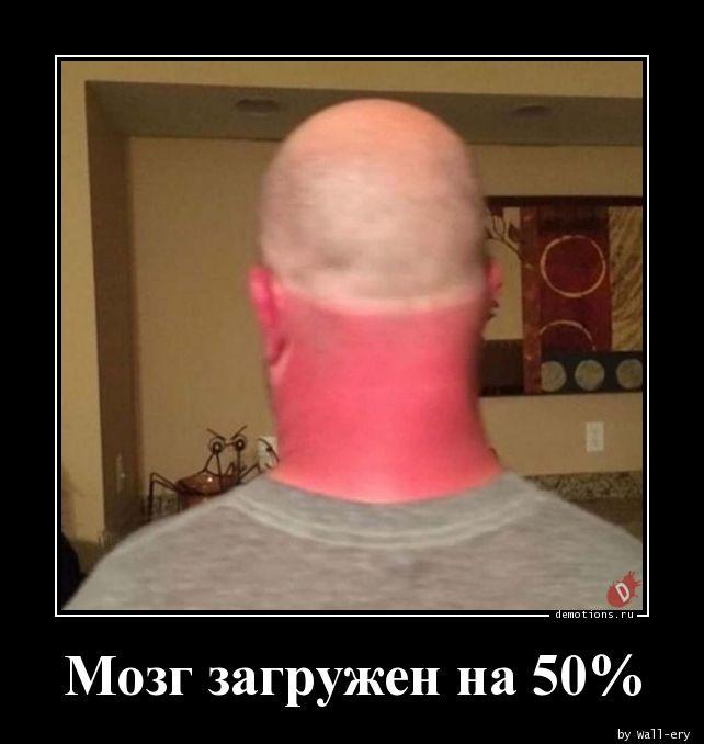 Мозг загружен на 50%